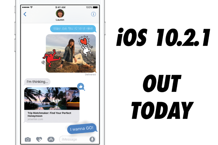 iOS 10.2.1 Now Available